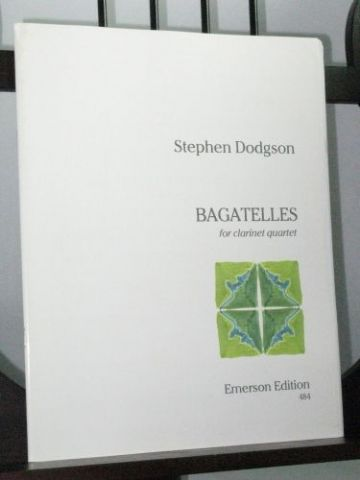 Dodgson S - Bagatelles for Clarinet Quartet
